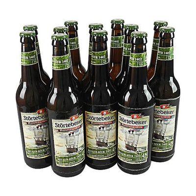 Störtebeker BIO Keller Bier 1402 (12 Flaschen à 0,5 l / 4,8 % vol.)