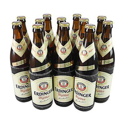 Erdinger Hefe Weißbier (12 Flaschen à 0,5 l / 5,3 % vol.)