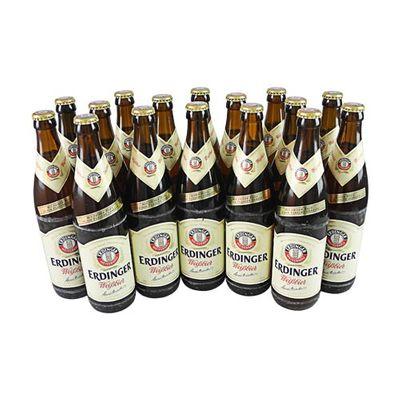Erdinger Hefe Weißbier (16 Flaschen à 0,5 l / 5,3 % vol.)
