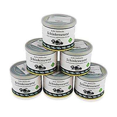 Echt Hällische Schinkenwurst von der BESH 6er Pack (6 Dosen à 200 g)