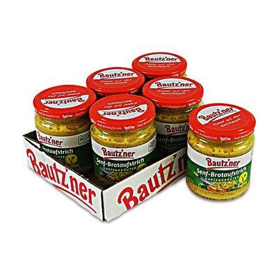 "Bautzner Senf-Brotaufstrich ""Gartenkräuter"" 6er Pack (6 Gläser à 200 ml)"