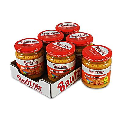 """Bautzner Senf-Brotaufstrich """"Gemüse"""" 6er Pack (6 Gläser à 200 ml)"""