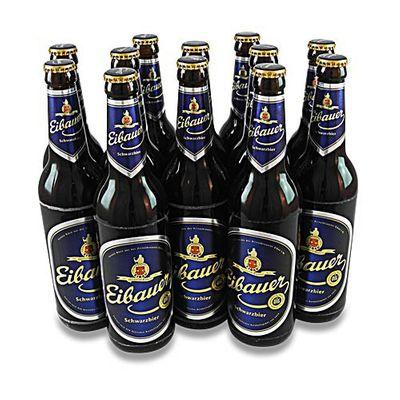 Eibauer Schwarzbier - (12 Flaschen à 0,5 l / 4,5% vol.)