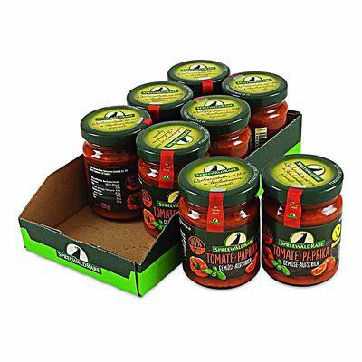 Tomate Paprika Gemüseaufstrich 8er Set (8 Gläser à 135 g)