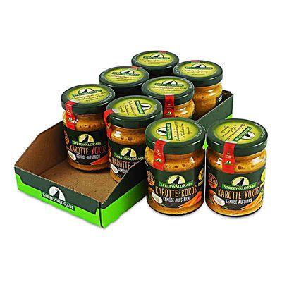 Karotte Kokos Gemüseaufstrich 8er Set (8 Gläser à 135 g)