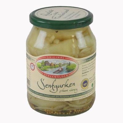 Krügermanns Original Spreewälder Senfgurken (720 ml Glas)