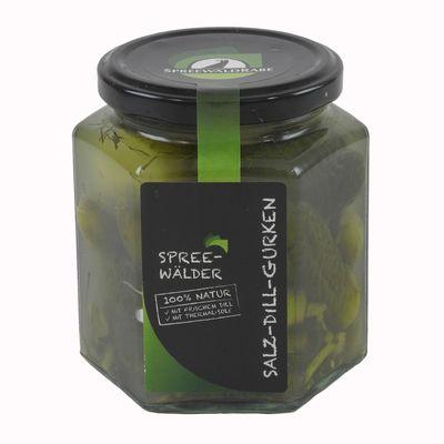 Premium Salz-Dill-Gurken von Spreewald-Rabe (390 ml Glas)