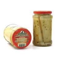 Senfgurkenstreifen von Spreewald-Rabe (720 ml Glas)
