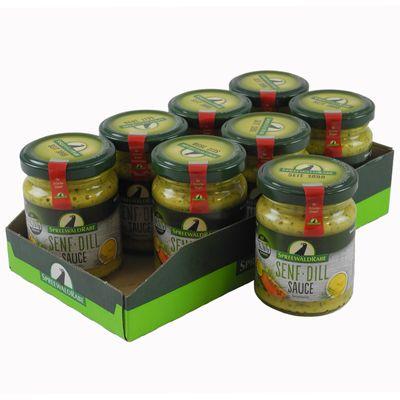 Senf-Dill Sauce mit Honig 8er Set (8 Gläser à 120 ml)