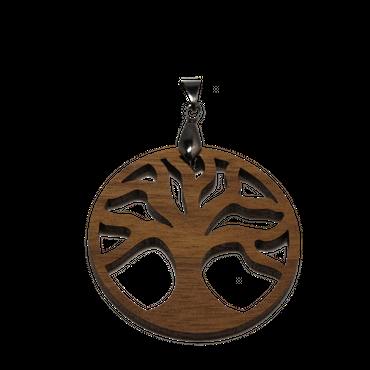 """Baum des Lebens"" Amulett Classic Holz Nuss"