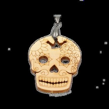 """Sugar Skull"" Amulett Classic Holz Zirbe"