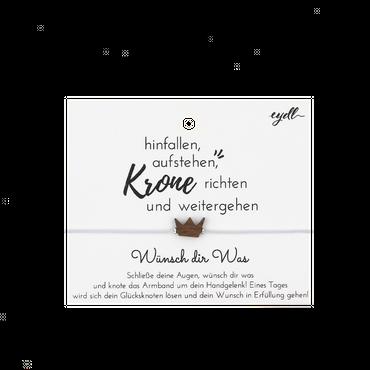 """""""Krone"""" Glücksknoten Armband Holz Nuss"""
