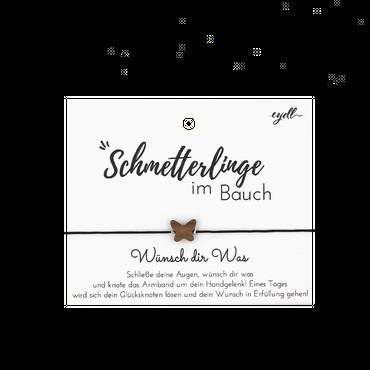 """""""Schmetterling"""" Glücksknoten Armband Holz Nuss"""