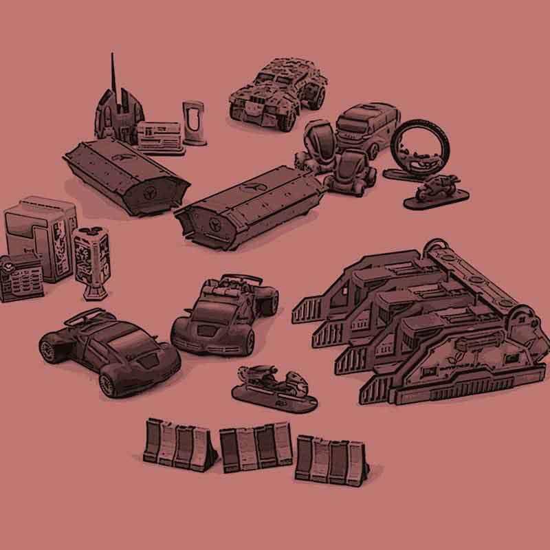 Tabletop- und Lasercutgelände & Modellbau Materialien