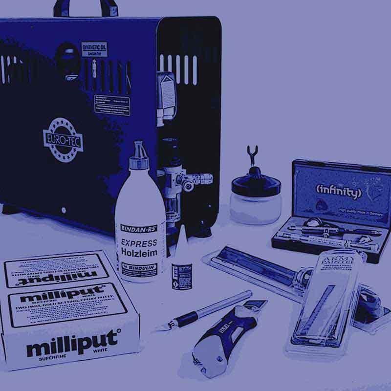 Bastel und Airbrush Zubehör und Werkzeuge