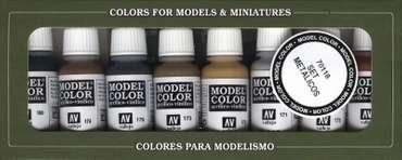 Model Color Set: Metallic Colours (8)