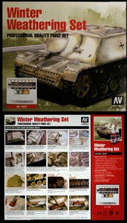 Model Color Winter Weathering Set (7 x 17ml + accessories)