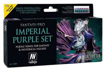 Model Color Set: Fantasy-Pro Imperial Purple (8 x 17ml) Vallejo Model Color Set: Fantasy-Pro Fai…