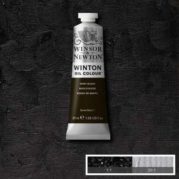 W&N Winton Oilpaint Ivory Black