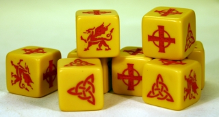 SAGA Dice (Welsh)