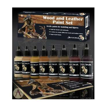 Paint-Set Wood-and-Leather