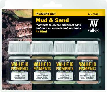 "Vallejo Pigment Set Nr. 2 (4) ""Mud and Sand"""