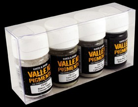 "Vallejo Pigment Set Nr. 4 (4) ""Snow, Ash, Industrial"""