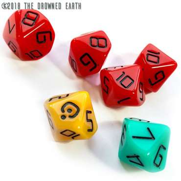 The Drowned Earth - Custom Dice