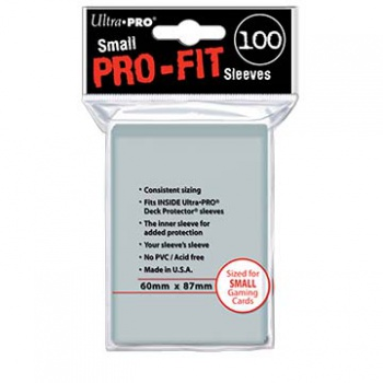 UP - Small Sleeves - Pro-Fit Card (100 Sleeves)