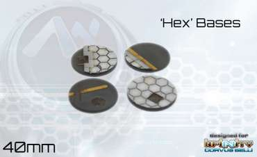 Hex Base Set 40mm