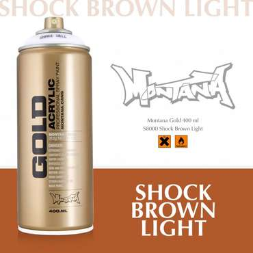 Montana Gold shock brown light (S8000)