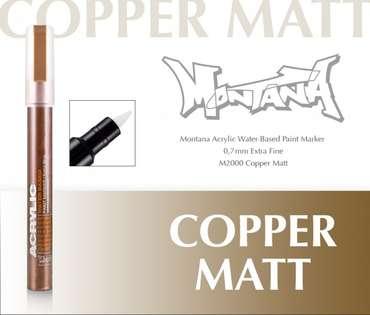 Montana Acrylic Marker 0.7 mm Extra Fine Copper Matt