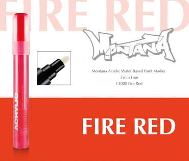 Montana Acrylic Marker 2mm Fine  Fire Red