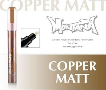 Montana Acrylic Marker 2mm Fine  Copper Matt