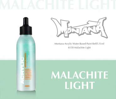 Montana Acrylic Refill 25ml  Malachite Light