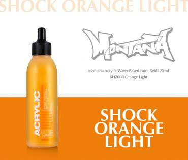 Montana Acrylic Refill 25ml  SH Orange Light