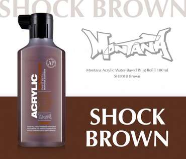 Montana Acrylic Refill 180ml  SH Brown