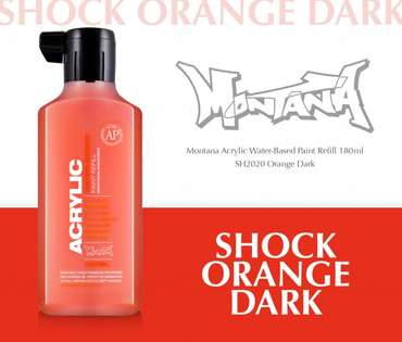 Montana Acrylic Refill 180ml  SH Orange Dark
