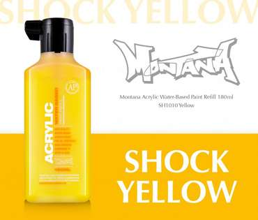 Montana Acrylic Refill 180ml  SH Yellow