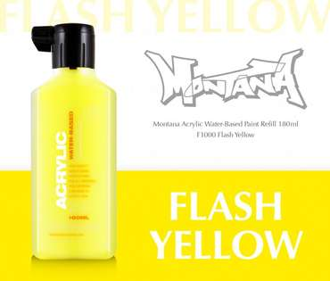 Montana Acrylic Refill 180ml  Flash Yellow