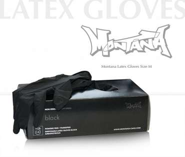 Montana Latex Gloves - M (100 pcs.)