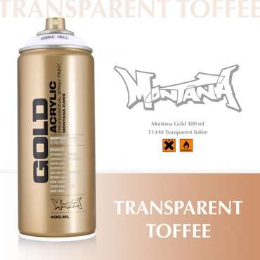 Montana Gold Transparent Toffee (T1440)