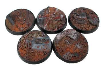 Beveled Edge: 40mm Scrap Yard Bases (5)