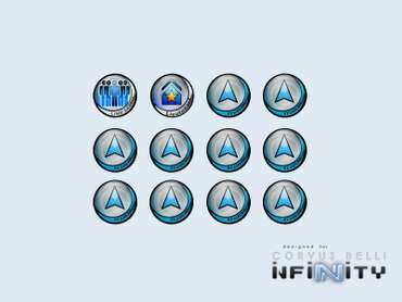 "Infinity Tokens ""Regular"" (12) BLUE"