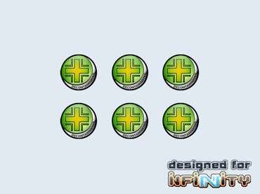 "Infinity Tokens ""Decontaminated"" (6)"