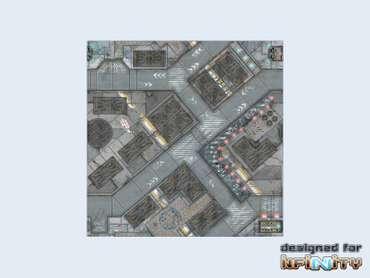 War Game Mat - 48x48inch - District 5 Streets
