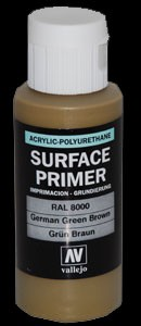 Vallejo Surface Primer German Green Brown/ RAL8000 (60ml)