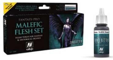 Model Color Set: Fantasy-Pro Malefic Flesh Set (8 x 17ml)