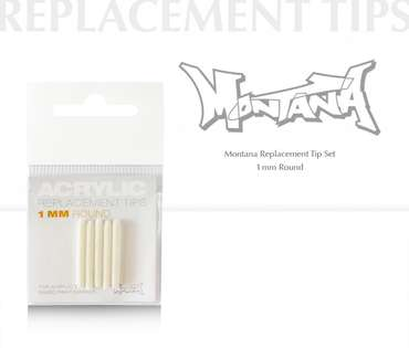 Montana Acrylic Extra Fine 1 mm Round Replacement Tip Set (5)