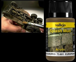 Vallejo Weathering Effects Splash Mud European 40 ml